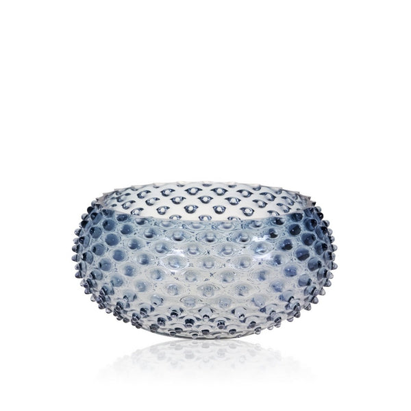 Underlay Blue Smoke Hobnail Bowl by KLIMCHI