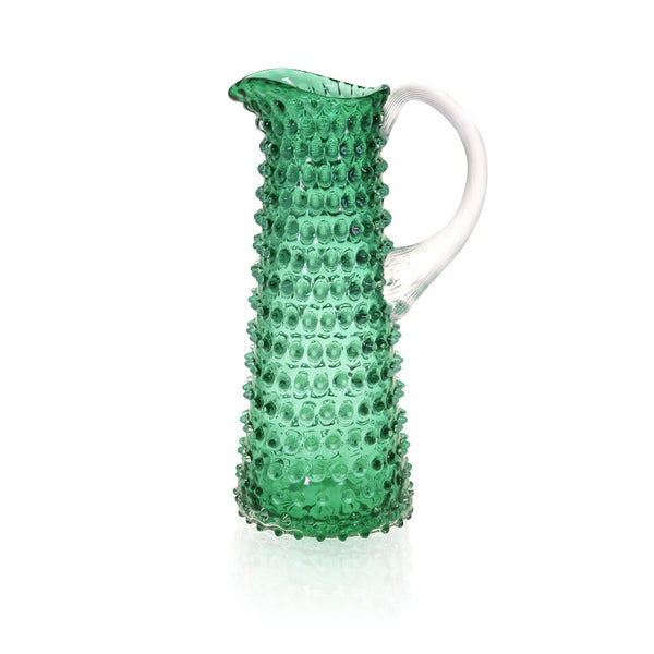 Underlay Dark Green Hobnail Jug Tall by KLIMCHI