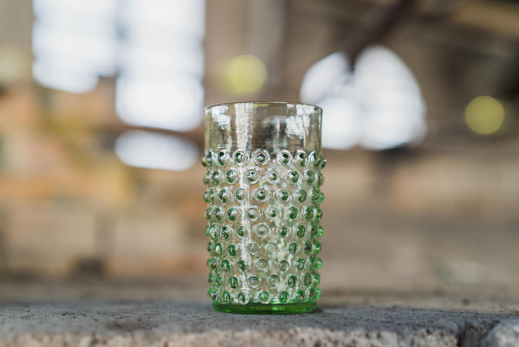 Light Green Hobnail Tumbler (set of 6 pieces) - Clartés