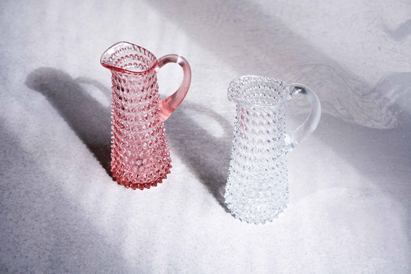Rosaline Bubble Jug tall with Crystal Bubble Jug tall