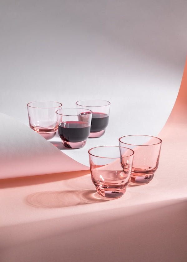 SHADOWS <br> Espresso Glass Cup in Suede Pink <br> (Set of 2)