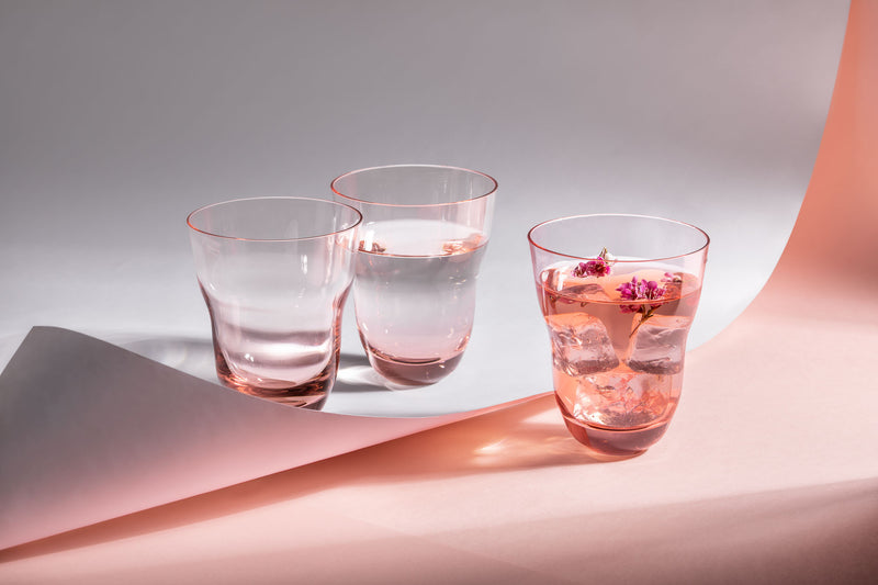 Suede Pink drinkware from Shadows by KLIMCHI