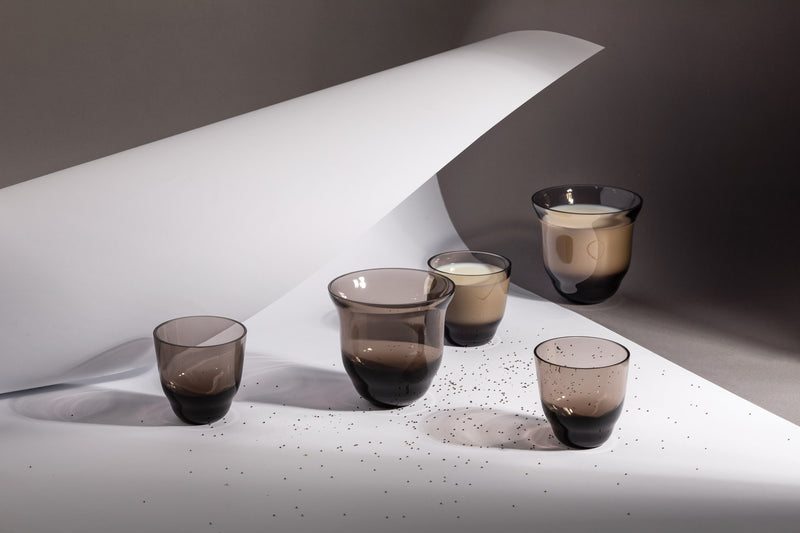 SHADOWS <br> Drinking Glass in Midnight Grey <br> (Set of 2)