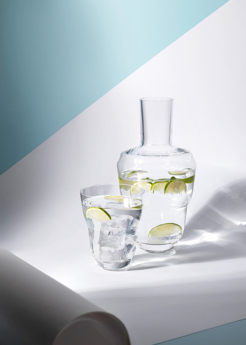 Cloudless Clear Carafe with water and limes inside