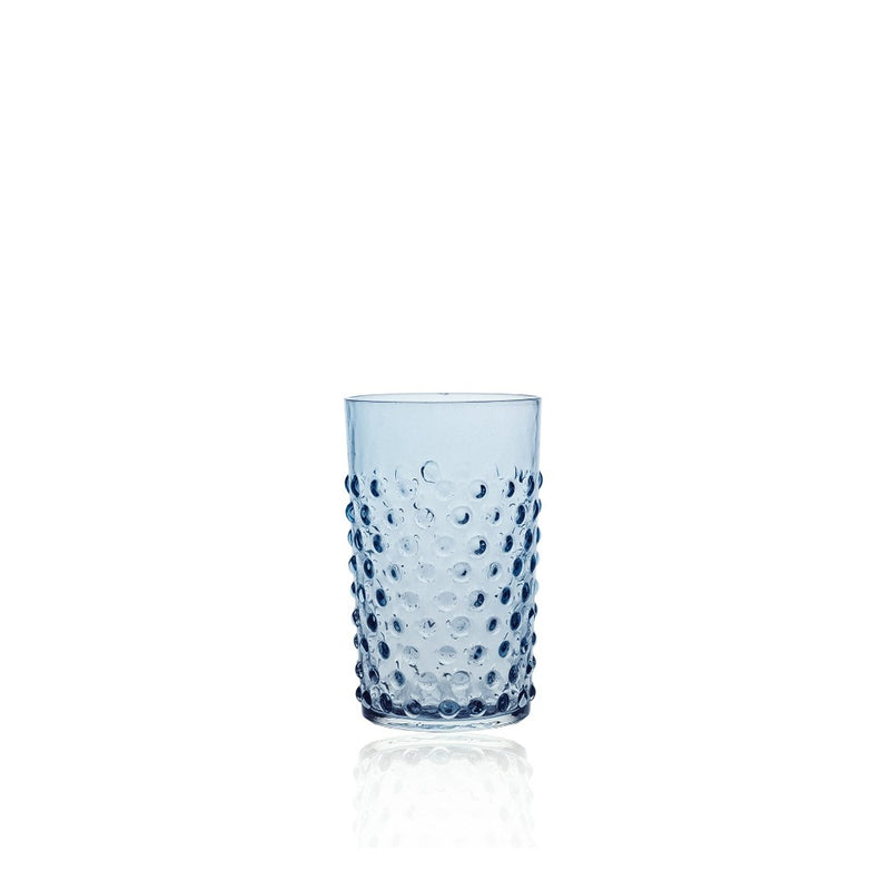 Underlay Blue Smoke Hobnail Tumbler (set of 6 pieces)