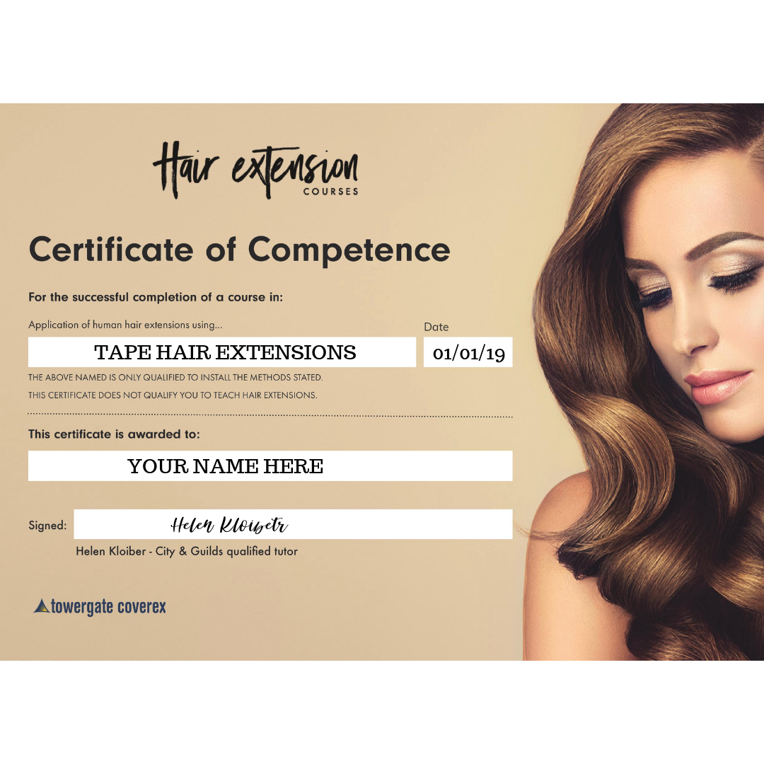 Tape Hair Extensions Training Course (Australia)