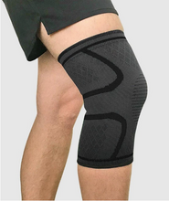 Load image into Gallery viewer, OXYFLOW™ KNEE COMPRESSION SLEEVE - BLACK One Pair (2pcs)