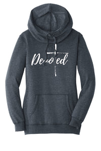 Devoted | The Power of One:  Ladies Cowl Neck Hoodie