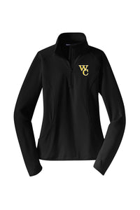 WINTER CLEARANCE - 25% OFF - Woodford Ladies Embroidered 1/2-Zip Lightweight Pullover