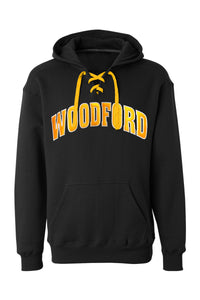 Woodford Thowback Applique Lace Up Hoodie