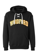 Load image into Gallery viewer, Woodford Thowback Applique Lace Up Hoodie