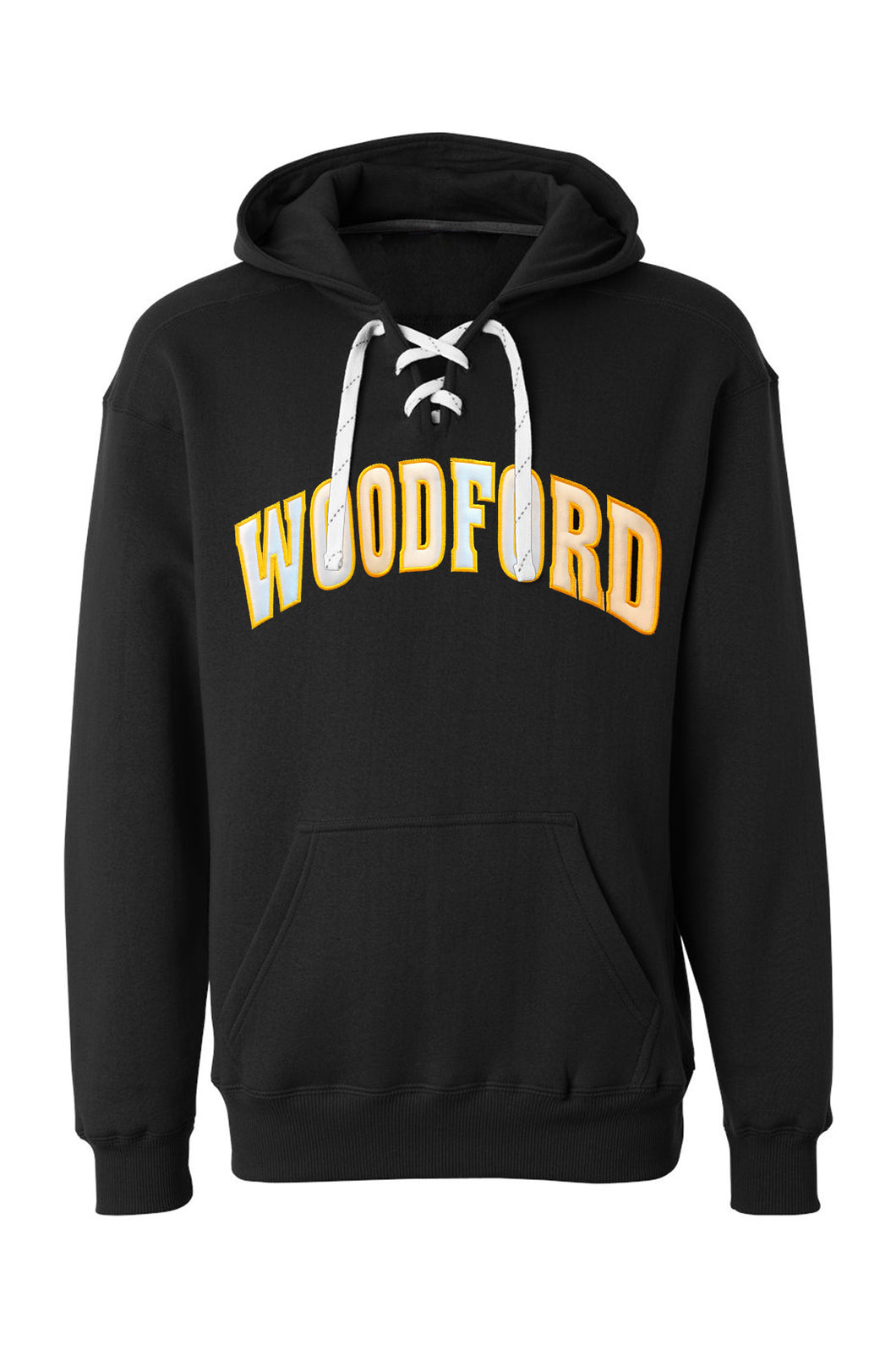WINTER CLEARANCE - 50% OFF - Woodford Thowback Applique Lace Up Hoodie