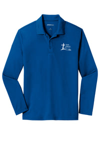 Forks Wear Embroidered Long Sleeve Performance Polo