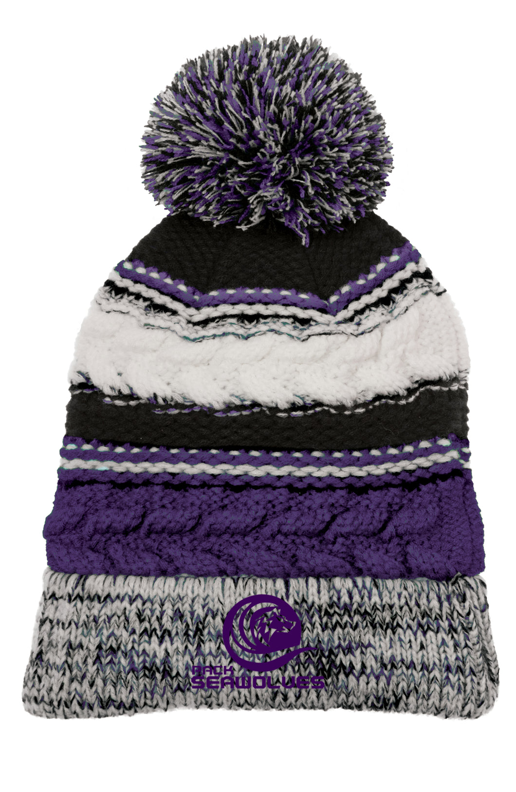 Swim PACK Beanie with Pom Top