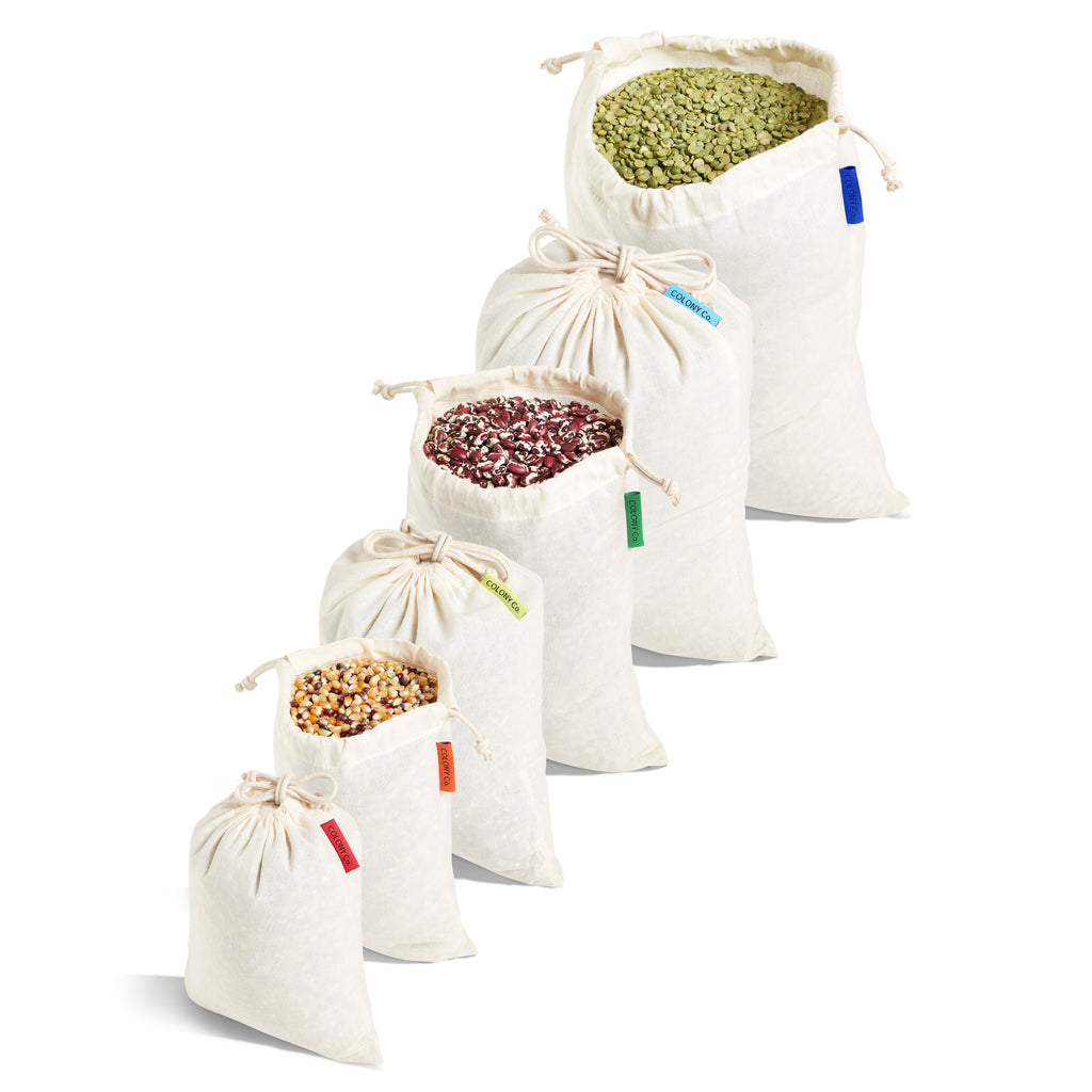 Reusable Bulk Food Bags - Packaged as Sets