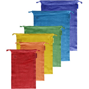 The Rainbow Six-pack of Reusable Produce Bags