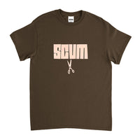 Scum cut tee Brown tee