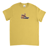 Yellow Burning Car Tee