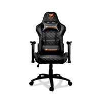 Cougar Armor One Black Gaming Chair (180º Reclining and Height Adjustment) – Black | CGR-ARMOR-ONE-BLK