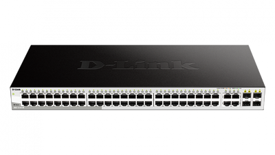 D-LINK DGS-1210-48 SMART SWITCH, 48X GBE, 4X RJ45/SFP, FANLESS