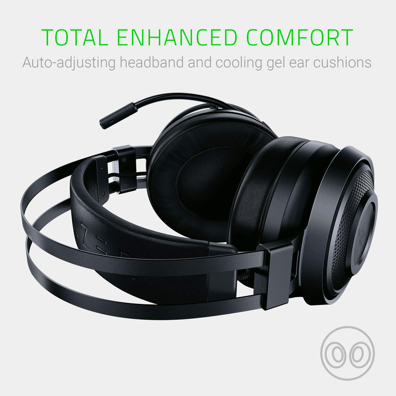Razer Nari Wireless 7.1 Surround Sound Gaming Headset: THX Spatial Audio - Auto-Adjust Headband & Swivel Cups - Chroma RGB - Retractable Mic - For PC, PS4, Xbox One