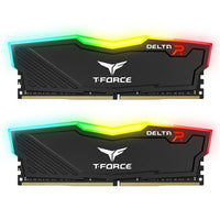 TEAMGROUP T-Force Delta RGB DDR4 16GB (2x8GB) 3200MHz (PC4-25600) CL16 Desktop Memory Module ram TF4D416G3200HC16CDC01 - Black