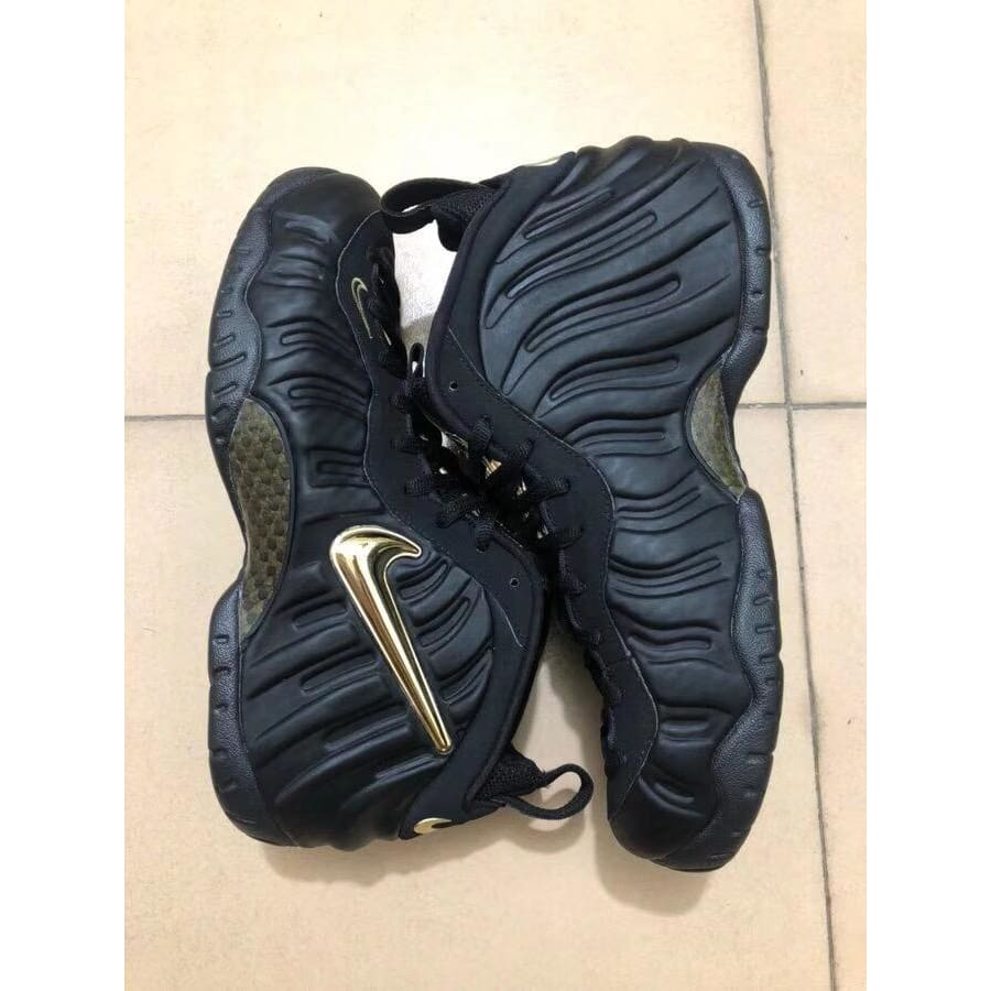 new style 57f4f 00b3d Nike Air Foamposite Pro Black Metallic Gold  624041-009 !--
