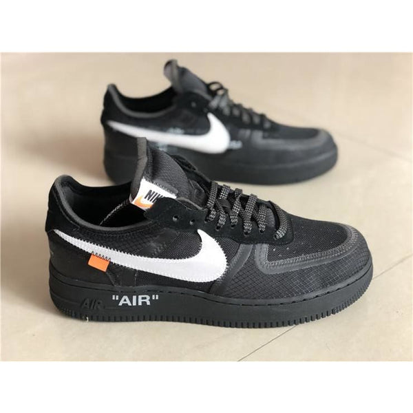 b958eaa460 Off-White x Nike Air Force 1 Low Black  AO4606-001 !--