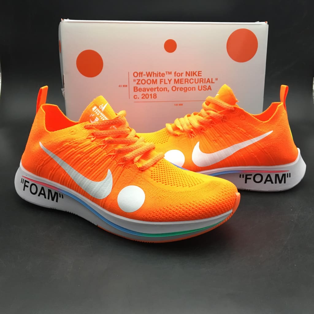 e4f32ab3fd94 Off-White x Nike Zoom Fly Mercurial Flyknit  AO2115-800 !--