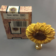 Polystone Sunflower Lamp Finial Light Topper
