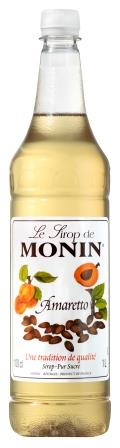 MONIN amaretto syrup - 1ltr Plastic bottle