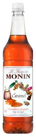 MONIN Caramel syrup - 1ltr Plastic bottle