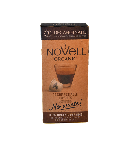 DECAFFEINATE CAPSULES 100% COMPOSTABLE, 100% ORGANIC, NO WASTE CAPSULES