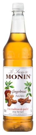 MONIN Gingerbread syrup - 1ltr plastic bottle