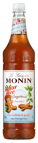 MONIN Sugar Free Gingerbread syrup - 1ltr plastic bottle