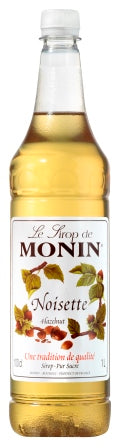Monin Hazelnut Syrup - 1 ltr Plastic Bottle