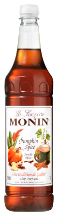 MONIN Pumpkin Spice syrup - 1ltr plastic bottle