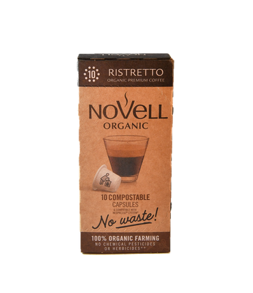 RISTRETTO 100% COMPOSTABLE, 100% ORGANIC, NO WASTE CAPSULES