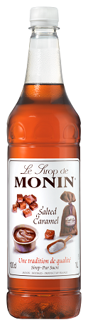 MONIN Salted Caramel syrup - 1ltr Plastic bottle
