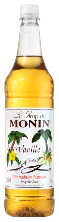 MONIN Vanilla syrup - 1ltr Plastic Bottle