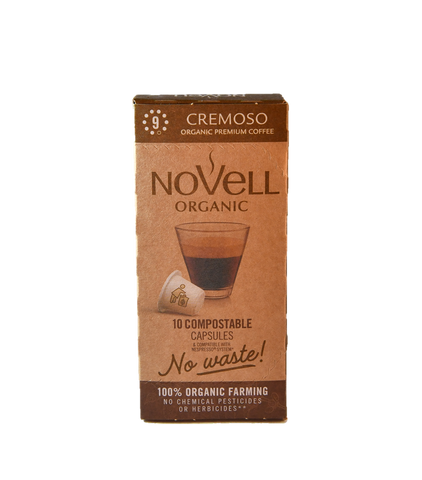 CREMOSO 100% ORGANIC, 100% COMPOSTIBLE, NO WASTE CAPSULES