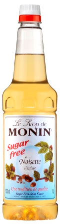 Monin Sugar Free Hazelnut Syrup - 1ltr plastic bottle