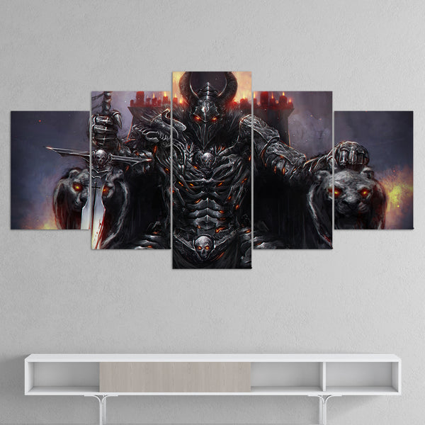 Knight Online 01 Demon King 5 Piece Canvas Wall Art Gaming Canvas