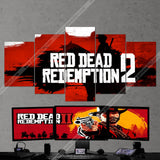 Red Dead Redemption 2 - 5 Piece Canvas Wall Art Gaming Canvas 5PCRDR005