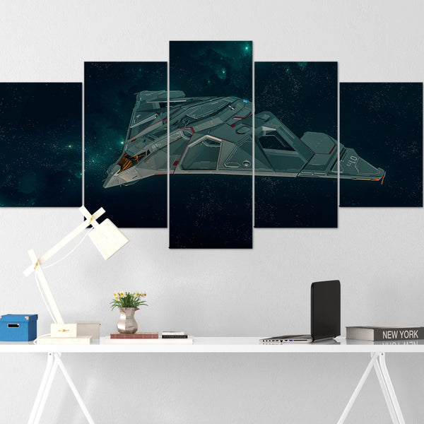 Star Citizen Canvas Wall Art - Aegis Eclipse Canvas Wall Art - Star Citizen Poster - 5 Piece Canvas Wall Art Star Citizen Poster 04
