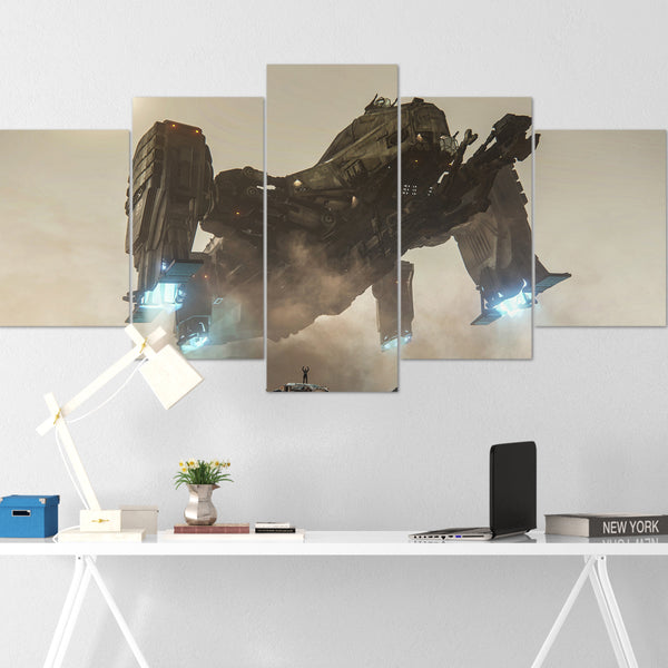 Star Citizen Canvas Wall Art - Aegis Reclaimer Canvas Wall Art - Star Citizen Poster - 5 Piece Canvas Wall Art Star Citizen Poster 02