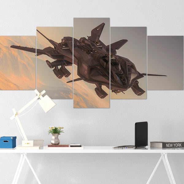 Star Citizen Canvas Wall Art - Aegis Retaliator Canvas Wall Art - Star Citizen Canvas Print - 5 Piece Canvas Wall Art Star Citizen Poster 01