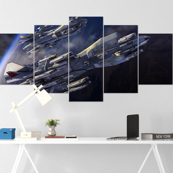 Star Citizen Canvas Wall Art - Aegis Retaliator Canvas Wall Art - Star Citizen Canvas Print - 5 Piece Canvas Wall Art Star Citizen Poster 03