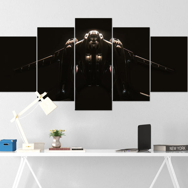 Star Citizen Canvas Wall Art - Aegis Vanguard Canvas Wall Art - Star Citizen Canvas Print - 5 Piece Canvas Wall Art Star Citizen Poster 01