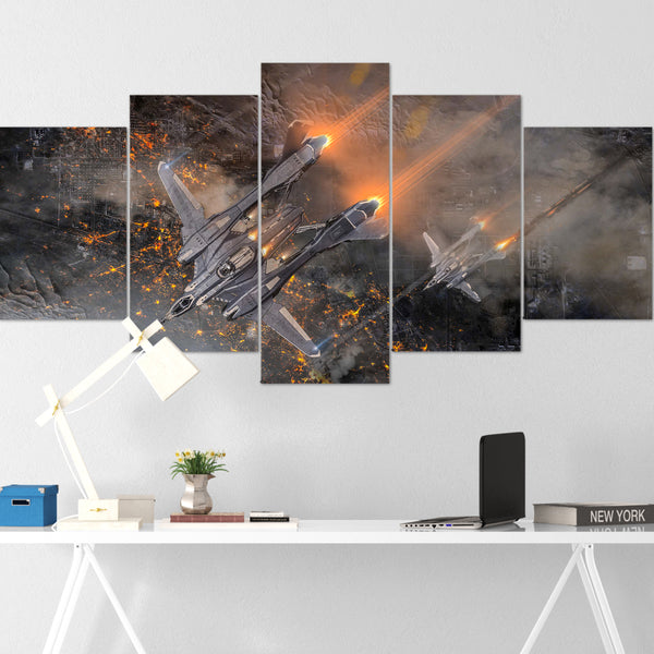 Star Citizen Canvas Wall Art - Aegis Vanguard Canvas Wall Art - Star Citizen Canvas Print - 5 Piece Canvas Wall Art Star Citizen Poster 04